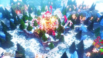 Santa Factory Spawn Minecraft Map & Project