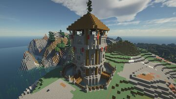 Stronghold Signal Tower Minecraft Map & Project