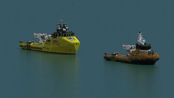 Platform supply vessel DKH- 5221, 7221 Minecraft Map & Project