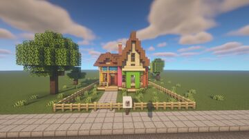 Up house Minecraft Map & Project