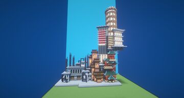 4 Themes in 1 build Minecraft Map & Project