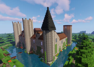 The Lydford Castle (Chirk World) Minecraft Map & Project