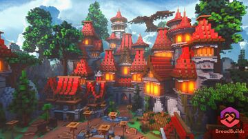 Red Medieval ❯ Factions Spawn Minecraft Map & Project