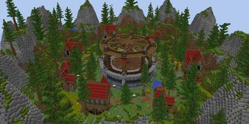Rustic Medieval Lobby - 150x150+ - $8 USD Minecraft Map & Project