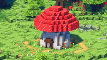 Minecraft: How to Build a Mushroom House   Cottagecore/Fairycore 🍄 Minecraft Map & Project