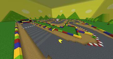 SNES Mario Circuit 3 Minecraft Map & Project