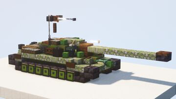 IS-7 heavy tank (Object 260) - 1.5:1 scale Minecraft Map & Project