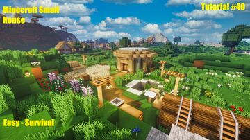 Minecraft | How To Build a Easy Survival House - Tutorial Minecraft Map & Project