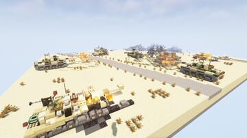 Tanks battle diorama, Six-Day War - IS-3M versus Magach-3 (M48A3) Minecraft Map & Project