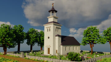 Swedish Countryside Church + Cinematic video Minecraft Map & Project