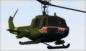 UH-1E Huey / Vietnam Gunship Minecraft Map & Project
