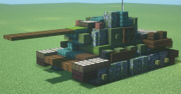 T-34-85 (D-5T) (1.5:1 Scale) Minecraft Map & Project