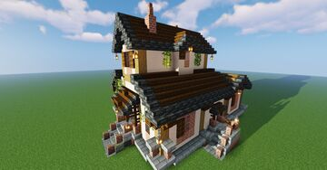 French 19th century Farmhouse Minecraft Map & Project