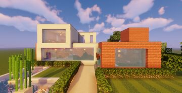 Modern House #129 (Map + Schematic) Minecraft Map & Project