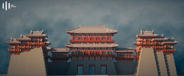 Chinese architecture 05  : Preview and details display Minecraft Map & Project