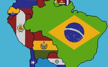 Accurate World Flag Map Minecraft Map & Project