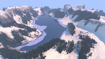 Custom winter terrain map 2000x2000 Minecraft Map & Project