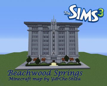 Beachwood Springs -- Apartments from Sims 3 Minecraft Map & Project