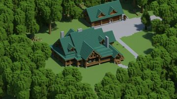Woodland Log Home [With interior, and Download] Minecraft Map & Project