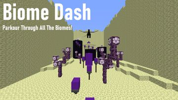 Biome Dash - Parkour Through All The Minecraft Biomes! Minecraft Map & Project