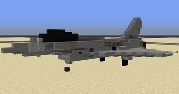Eurofighter Typhoon - 1.5:1 Scale Minecraft Map & Project