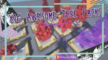 16x Awesome Trees! | Tree Pack [1.16.X - 1.17.X] [Download Link] Minecraft Map & Project
