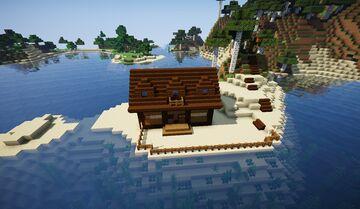 Casa sencilla en la playa hecha para supervivencia Minecraft Map & Project