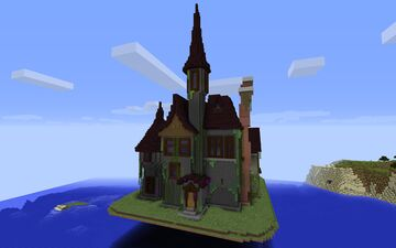 giant creepy horror house - schematic download Minecraft Map & Project