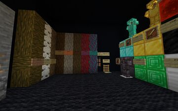 a texture pack showcase thing w/ shaders Minecraft Map & Project
