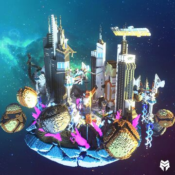 Galaxy Themed SkyBlock Spawn Minecraft Map & Project
