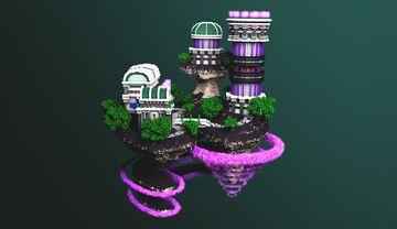 COMMISSION | Futuristic Hub Minecraft Map & Project