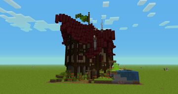 Fantasy House (Diagonal) Minecraft Map & Project