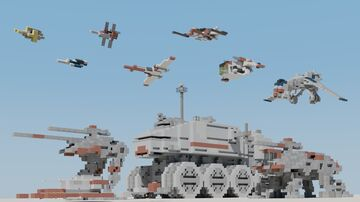 Republic Vehicle Pack (1:1 scale) Minecraft Map & Project