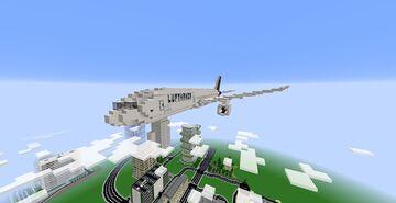 Plane Boeing 777-300ER Lufthansa Minecraft Map & Project
