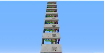 Ultimate Multifloor Flying Machine Elevator Minecraft Map & Project