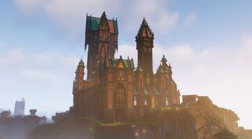 Deepslate Gothic Castle in minecraft 1.17 Bedrock Edition Minecraft Map & Project