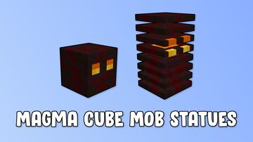 Magma Cube Mob Statues Minecraft Map & Project