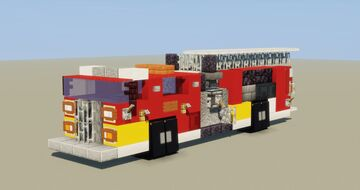 Fire Truck (with ladder) Minecraft Map & Project