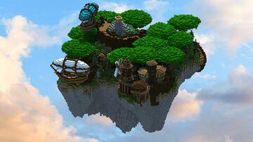 Steampunk Themed Sky Island Minecraft Map & Project