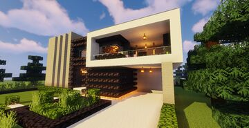 Modern House #111  (Map + Schematic) Minecraft Map & Project