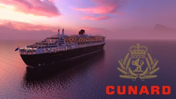 R.M.S. Queen Mary 2 [1.16.1 - Replica - 1.25:1 Scale] Minecraft Map & Project