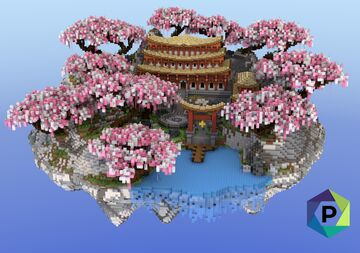 Oriental Temple Floating Hub | 1.8+ Minecraft Map & Project
