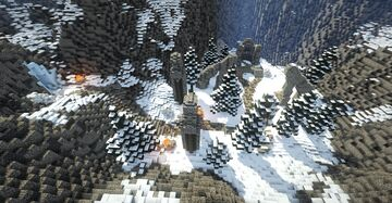 Ancient's Ascent and Bonechill Passage (Skyrim TES) Minecraft Map & Project