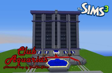 Aquarius -- Club from Sims 3 Minecraft Map & Project