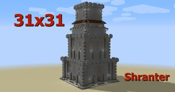 Simple Mediaval Tower 31x31 - Shranter Minecraft Map & Project