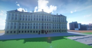 Amsterdam royal palace at the Dam square - Hoogedam Project Minecraft Map & Project