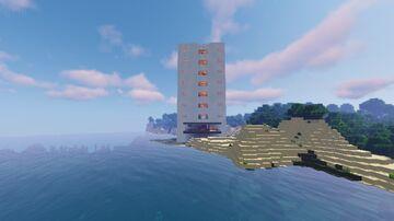 MODERN REDSTONE HOTEL - Beach Minecraft Map & Project