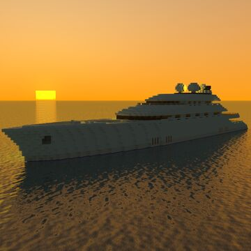 Mega Yacht Minecraft Map & Project