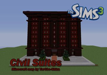 Civil Suites -- Apartments from Sims 3 Minecraft Map & Project