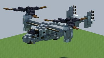 Bell Boeing V-22 Osprey, [With Download] Minecraft Map & Project